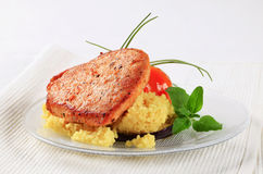 Marinated pork with couscous Royalty Free Stock Photography