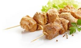 Marinated pork kebab Stock Photos