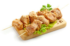 Marinated pork kebab Stock Photo