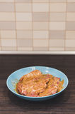 Marinated pork meat Royalty Free Stock Image