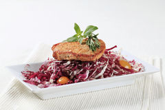 Marinated pork and red cabbage Stock Photos