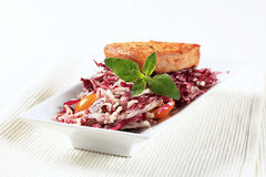 Marinated pork and red cabbage Stock Photo