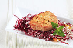 Marinated pork and red cabbage Stock Images