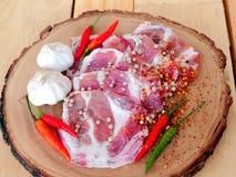 Marinated pork Royalty Free Stock Photo