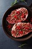 Marinated pork steaks Stock Image