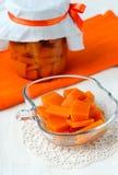 Marinated pumpkin Stock Photography