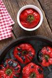 Marinated röd peppar Royaltyfria Bilder