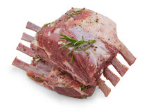 Marinated rack of lamb, black pepper, coriander Stock Photo