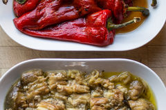 Marinated Red Pepper and Eggplant Salad. Stock Images