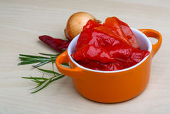 Marinated red pepper Royalty Free Stock Images