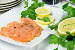Marinated salmon Royalty Free Stock Images