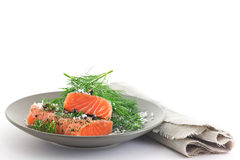 Marinated Salmon Stock Images