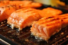 Marinated salmon fillets Stock Photo