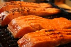 Marinated salmon fillets Royalty Free Stock Photo