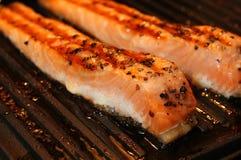 Marinated salmon fillets Stock Photos