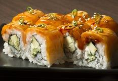 Marinated salmon sushi Royalty Free Stock Image