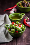 Marinated Sant Agostino Olives Stock Photography