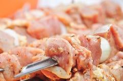 Marinated shashlik, barbecue, stock photo
