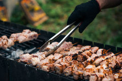 Marinated shashlik Royalty Free Stock Images