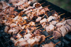 Marinated shashlik Stock Photo