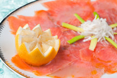 Marinated Smoked Salmon Royalty Free Stock Photo