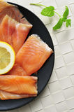 Marinated smoked salmon Royalty Free Stock Photography