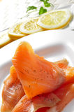 Marinated smoked salmon Stock Photo