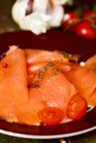Marinated smoked salmon Stock Image