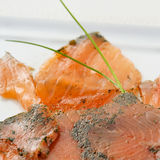 Marinated smoked salmon Royalty Free Stock Images