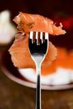 Marinated smoked salmon Royalty Free Stock Photography