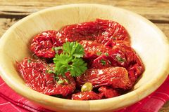 Marinated sun dried tomatoes Royalty Free Stock Image