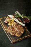 Marinated t-bone steak with whisky Stock Photo