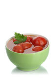 Marinated tomatoes Stock Image