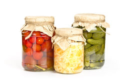 Marinated tomatoes, cucumbers and cabbage Royalty Free Stock Photography