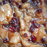Marinated turkey meet with cranberry Royalty Free Stock Photography