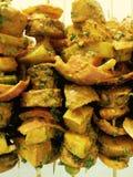 Marinated veg tikka Stock Photos