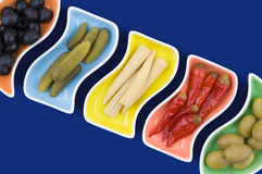 Marinated vegetables Royalty Free Stock Photo