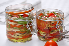 Marinated vegetables Stock Photos