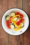 Marinated vegetables in old dish Stock Photos