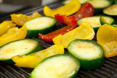 Marinated vegetables prepared for grill Stock Photo