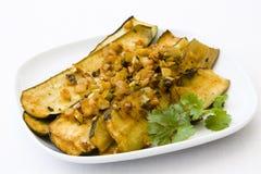 Marinated Zucchini Royalty Free Stock Images