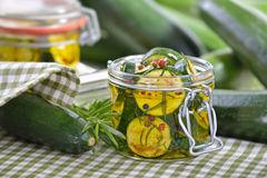 Marinated zucchini Royalty Free Stock Image