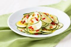 Marinated zucchini salad Royalty Free Stock Images