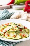 Marinated zucchini salad Royalty Free Stock Photo