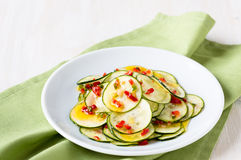 Marinated zucchini salad Stock Photography