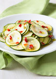 Marinated zucchini salad Stock Images