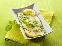 Marinated zucchinis с лимоном Стоковая Фотография