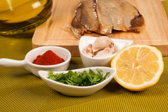Marinating fish Stock Photos