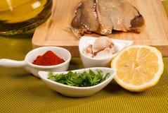 Marinating fish Stock Photos