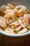 Marinating prawns Royalty Free Stock Photo